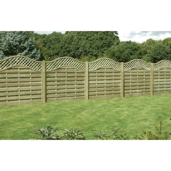 1.8m x 1.8m Omega Lattice Top Fence Panel