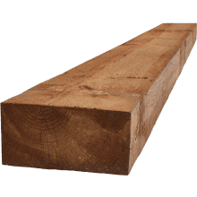 100 x 200mm Treated Softwood Sleeper - Brown 2.4m