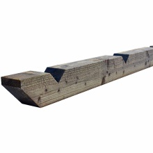100mm x 125mm Notched Treated Softwood Post 2.4m - User Class 4