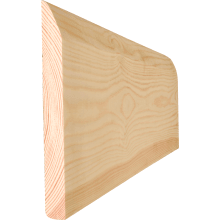 19 x 100mm Chamfered/Pencil Round Softwood Skirting (15 x 95mm Finish Size) (p/mtr)