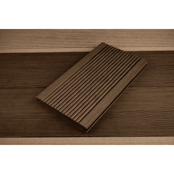 20 x 138 x 3600mm T-Deck Brown Composite Decking