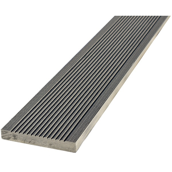 20 x 138 x 3600mm T-Deck Grey Composite Square Edging Step