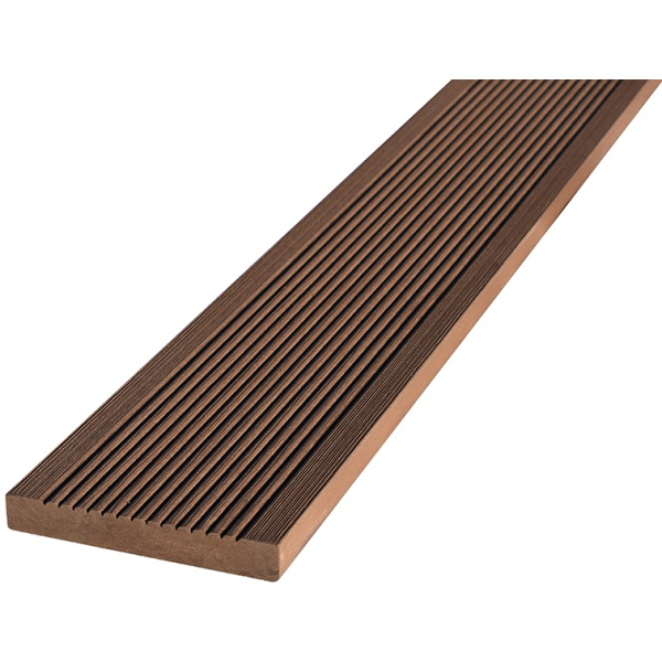 20 x 138 x 3600mm T-Deck Brown Composite Square Edging Step