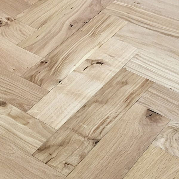 Brushed & Lacquered Oak Engineered Parquet Block Flooring - 90 x 15/4 x 360mm (1.8144m² pp)
