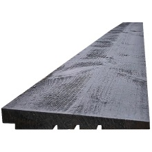 ex 32 x 175mm Black Painted Rebated Featheredge 4.8m