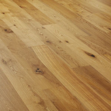 Oak Rustic Brushed & Lacquered Engineered Flooring - 15/4 x 190 x 1900mm (2.166m² pp)